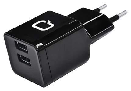 Сетевое зарядное устройство Qumo Energy Charger 2 USB 2,1A Black