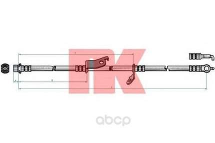 Шланг тормозной системы Nk 8545177 передний левый