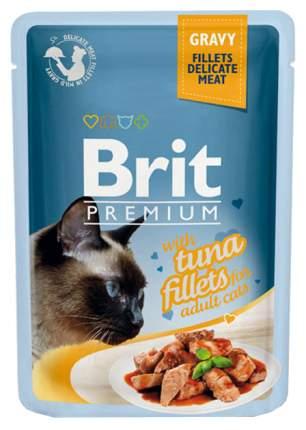 Влажный корм для кошек Brit Premium, рыба, 24шт, 85г