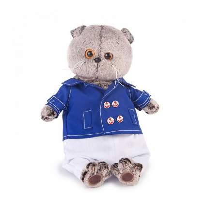 Мягкая игрушка BUDI BASA Кот Басик в синем кителе 25 см