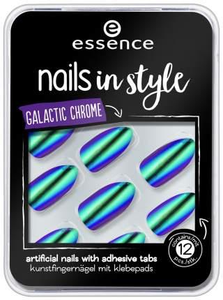 Накладные ногти Essence Nails In Style 06 Galactic Chrome