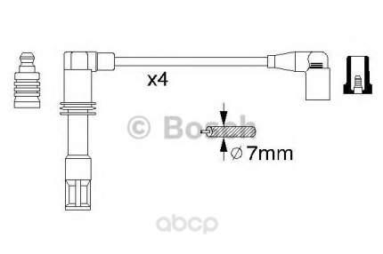 Комплект высоковольтных проводов BOSCH 0986356308