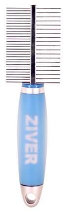 Расческа для животных Ziver двусторонняя с гелевой ручкой