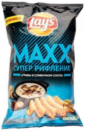 Чипсы Lay's супер рифление maxx грибы в сливочном соусе 145 г