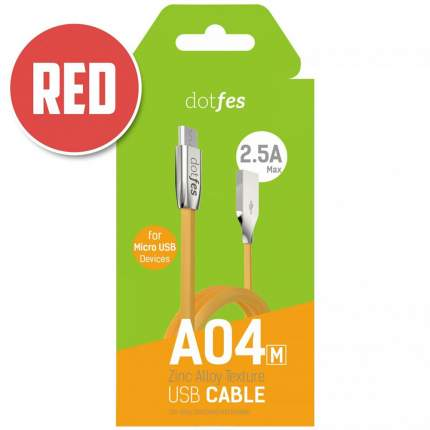 Кабель Dotfes A04M microUSB 1м Red