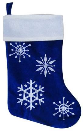 Чулок для подарков Snowmen Снежинки синий 46 см