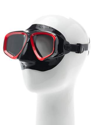 Маска для плавания Submarine Omar15 черная/красная