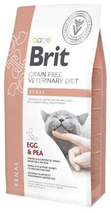 Сухой корм для кошек Brit Veterinary Diet Renal, при заболевании почек, яйцо и горох, 2кг