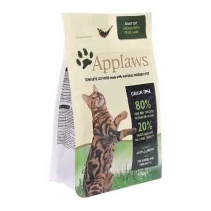 Сухой корм для кошек Applaws, беззерновой, курица, ягненок, 0,4кг