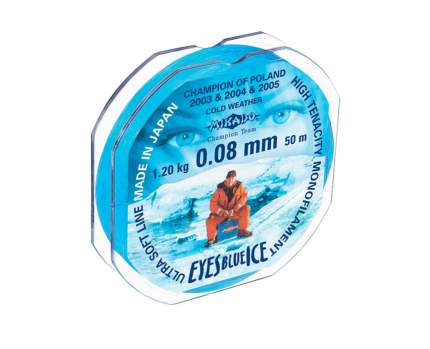 Леска монофильная Mikado Eyes Blue Ice 0,08 мм, 50 м, 1,2 кг