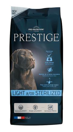 Сухой корм для собак Flatazor Prestige Light/Sterilised, птица, злаки, 15кг