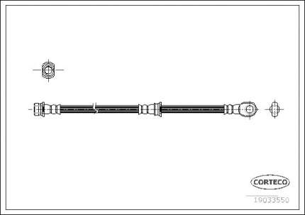 Шланг тормозной CORTECO 19033550