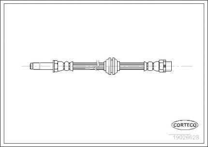 Шланг тормозной CORTECO 19026628