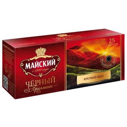 Чай  Майский черный бриллиант черный 25 пакетиков