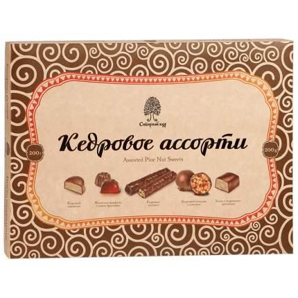 Конфеты Сибирский Кедр кедровое ассорти 200 г