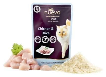 Влажный корм для кошек Nuevo Light, курица с рисом, 85г