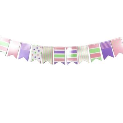Праздничная гирлянда Патибум Флажки Pink&Blue Ассорти 250 см