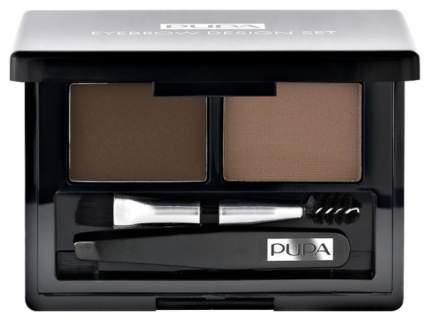 Тени для бровей Pupa Eyebrow Set №002 Brown 4,1 г