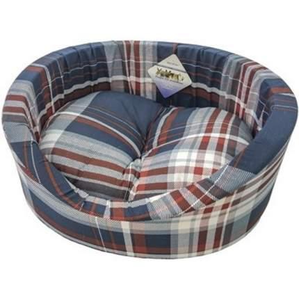 Лежак с бортиком Бобровый Дворик для животных (55 х 43 х 16 см, Синий)