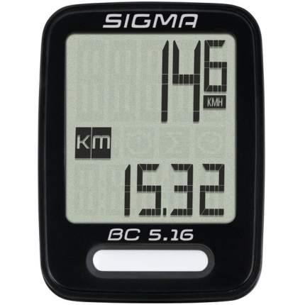 Велокомпьютер Sigma BC 5.16 черный