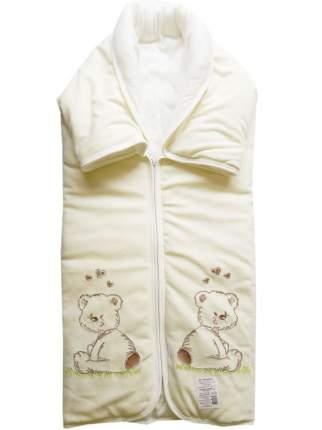 Конверт-одеяло Папитто на молнии с вышивкой 82*92 11-150 Белый
