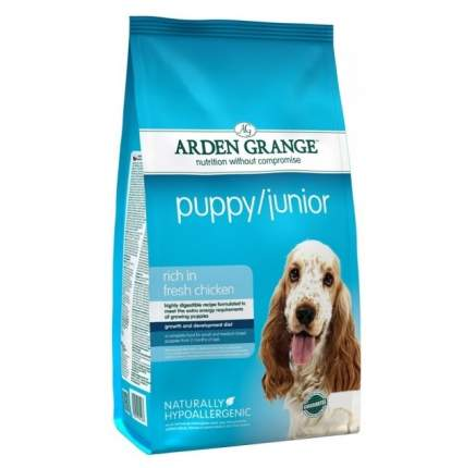 Сухой корм для щенков Arden Grange Puppy/Junior, курица,  15кг