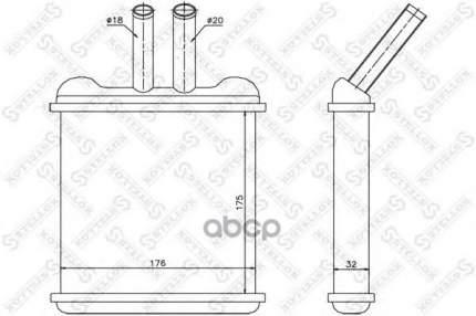 Радиатор печки Stellox 1035074SX