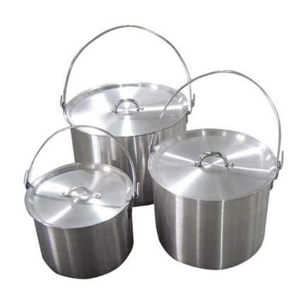 Набор котлов алюминиевых с крышкой Tramp TRC-086 (4,8л + 9л + 13л)
