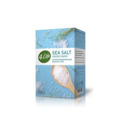 Соль 4life морская йодированная крупная 1 кг