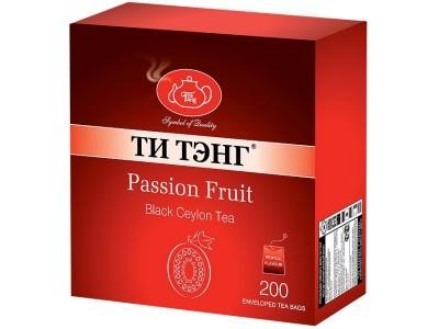 Чай черный в пакетиках для чашки в конвертах Ти Тэнг Passion Fruit 200*2 г
