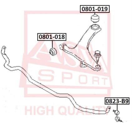 Стойка стабилизатора ASVA 0823-B9