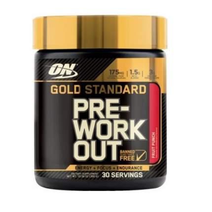 Optimum Nutrition Gold Standart Pre-Workout 300 г (вкус: фруктовый пунш)