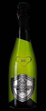 Игристое вино Cava Dos Caprichos Brut Nature, 2015 г.