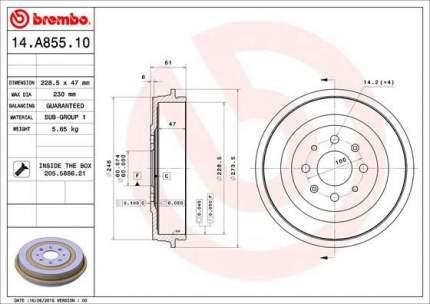 Тормозной барабан BREMBO 14.A855.10