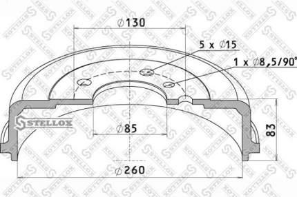 Тормозной барабан STELLOX 85-00157-SX