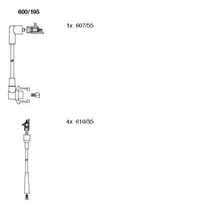 Комплект проводов зажигания BREMI 600/195