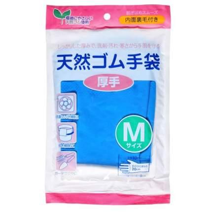 Перчатки хозяйственные толстые синие М