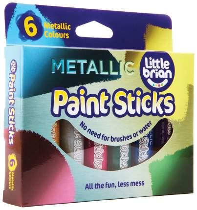 LITTLE BRIAN Краски в стиках, в наборе 6 метализированных цветов LBPS10MA6