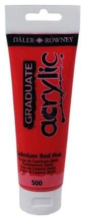 Акриловая краска Daler Rowney Graduate кадмий красный 120 мл