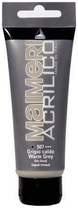 Акриловая краска Maimeri Acrilico M0924507 серый теплый 200 мл