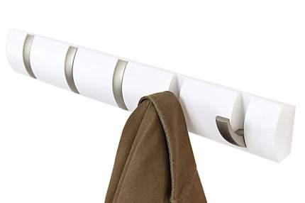 Вешалка настенная Umbra Flip 5 крючков белая