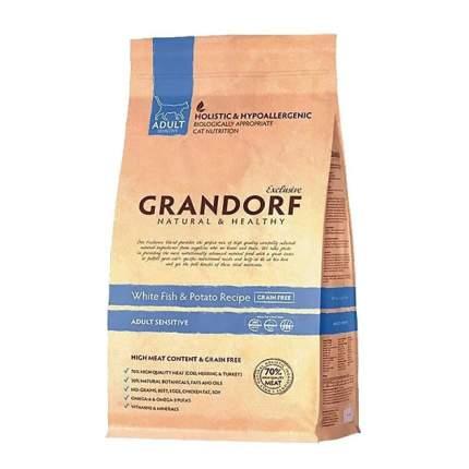 Сухой корм для кошек Grandorf Sensitive, беззерновой, белая рыба, 2кг