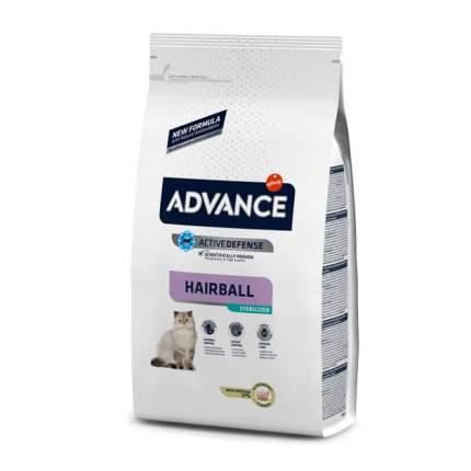 Сухой корм для кошек Advance Sterilized Hairball, для выведения шерсти, индейка, 10кг