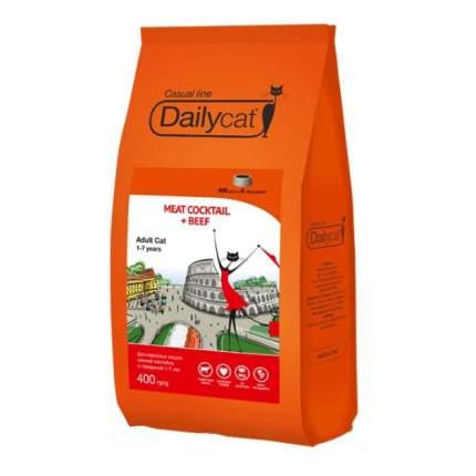 Сухой корм для кошек Dailycat Casual Line, мясной коктейль с говядиной, 0,4кг
