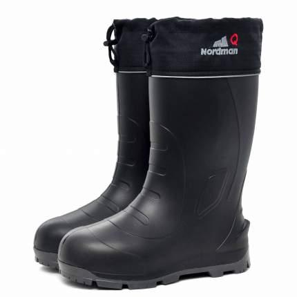 Сапоги для рыбалки и охоты Nordman Quaddro 519092-01, черные/серые, 46 RU