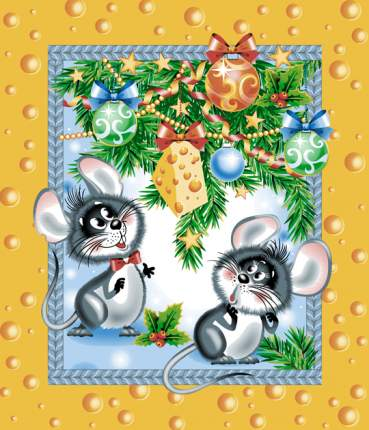 """Полотенце вафельное """"Сыр"""" (год Крысы), новогоднее"""