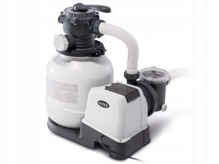 Intex, Песочный фильтр-насос Krystal Clear, 7,9м3/ч, резервуар для песка 23кг, 26646