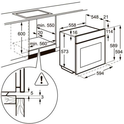 Встраиваемый электрический духовой шкаф Electrolux EOB53434AK Black