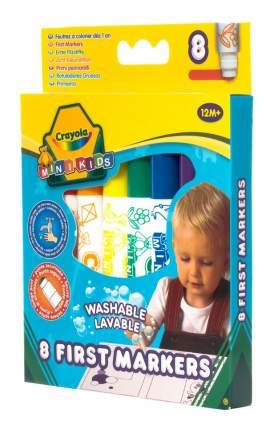 Crayola 8 цветных смывающихся фломастеров для малышей