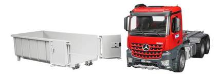 Контейнеровоз Bruder Mercedes-benz со снимающимся контейнером